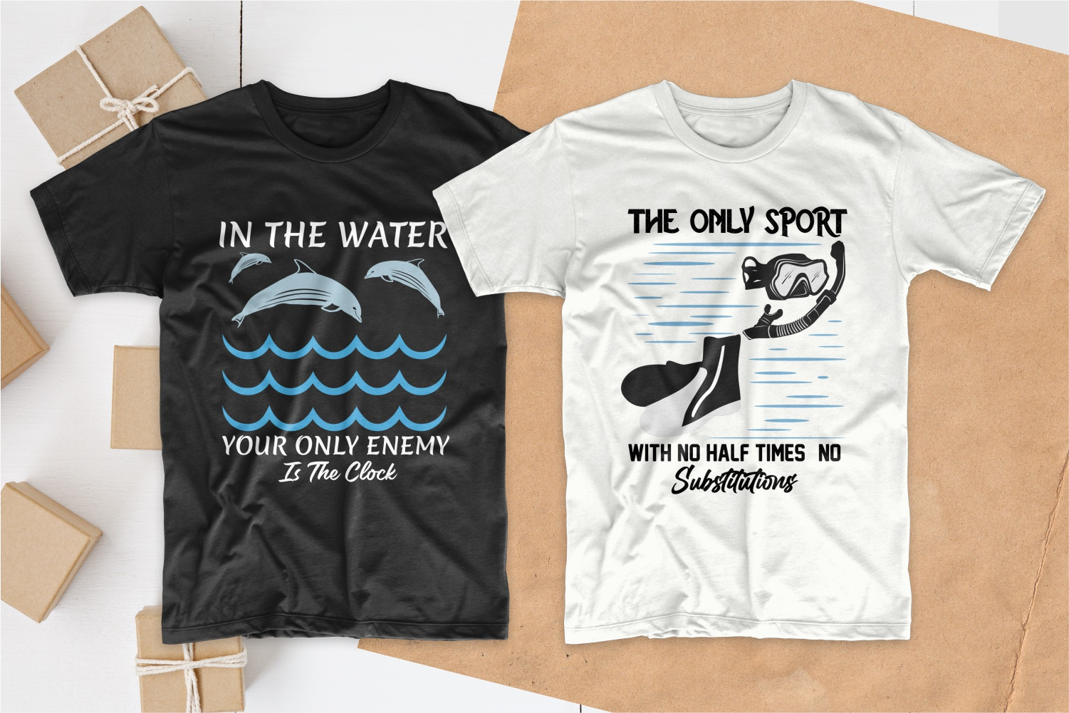 50 Swimming T-shirt Designs Bundle - 25