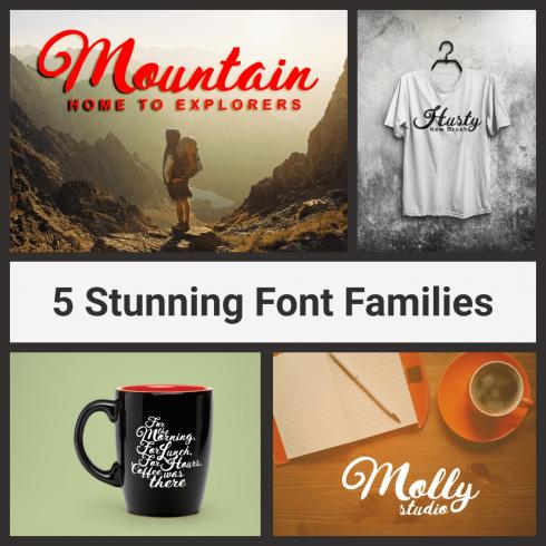 Stunning Font Families