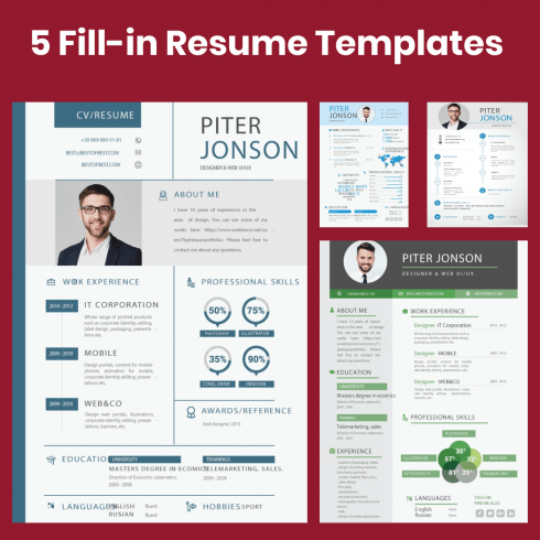 Fill-in Resume Templates