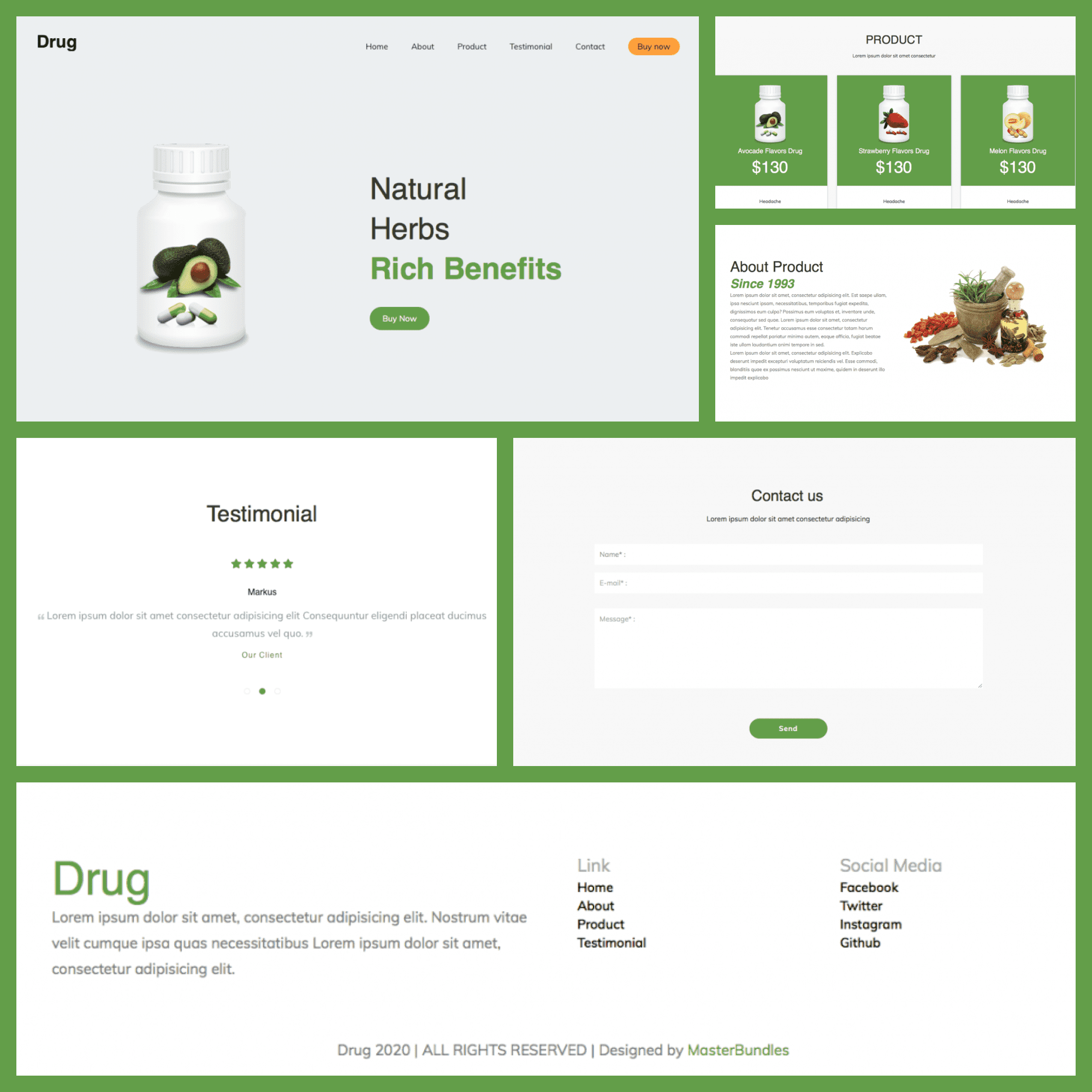Free Drug Theme Medical Blog features