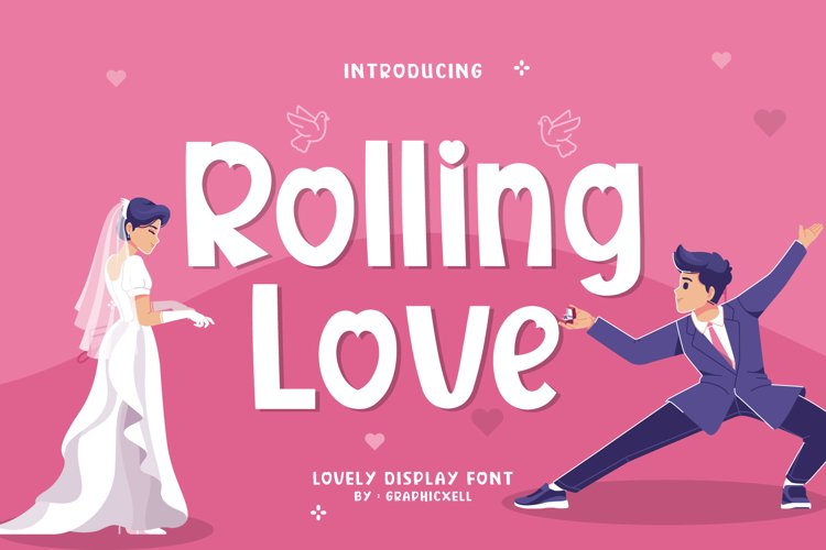 Rolling Love Font Image.