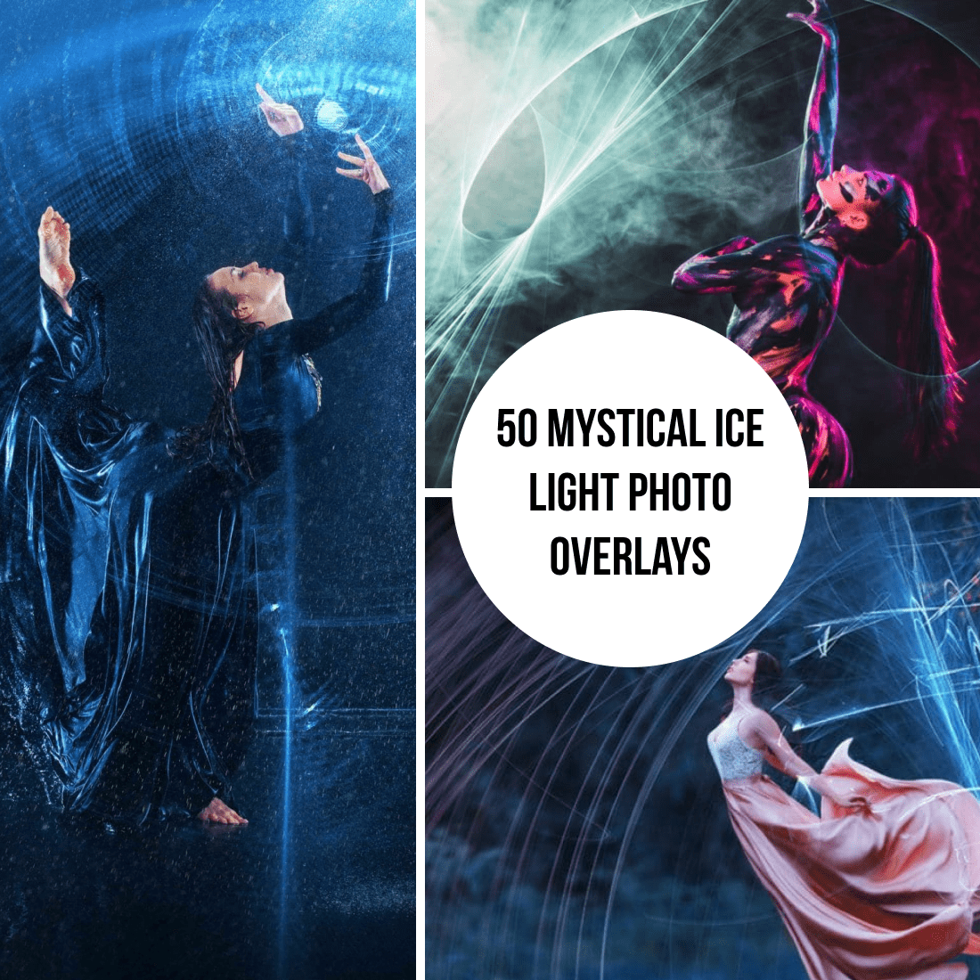 Mystical Ice Light Photo Overlays