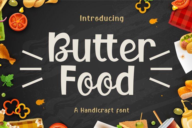 Butter Food Font Image.