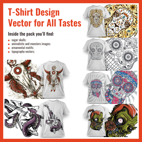 Best T Shirt Design Vector Pack