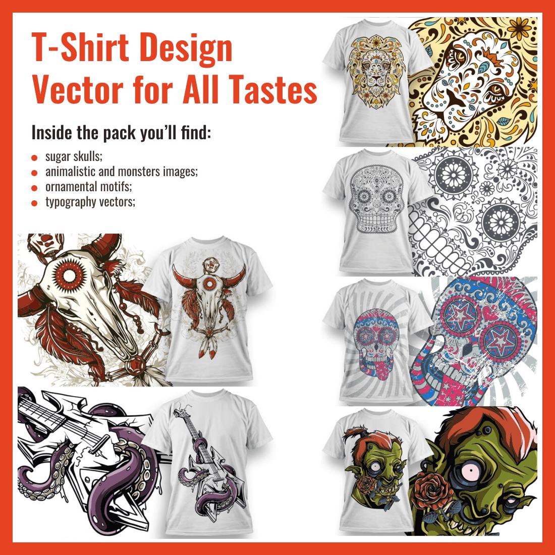 Best T Shirt Design Vector Pack