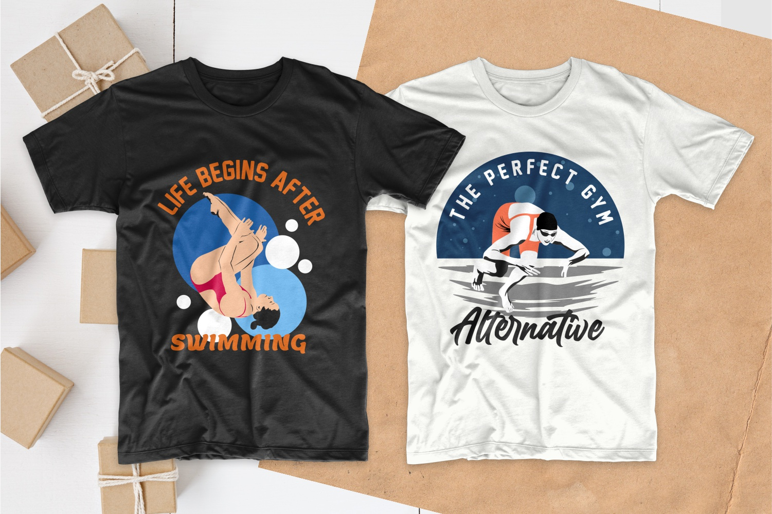 50 Swimming T-shirt Designs Bundle - 4
