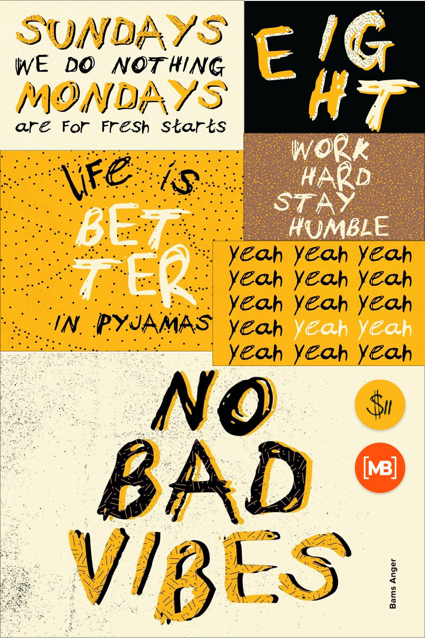 Pinterest Image: Angry Font Bams Anger.