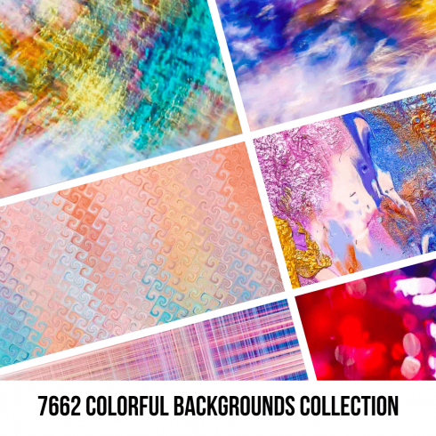 47.1 - 7662 Colorful Backgrounds Collection