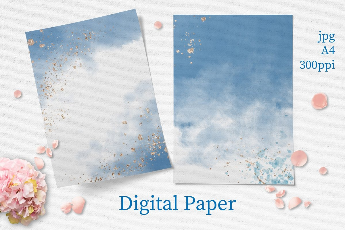 Pink Roses Clipart: Watercolor flowers PNG - 5