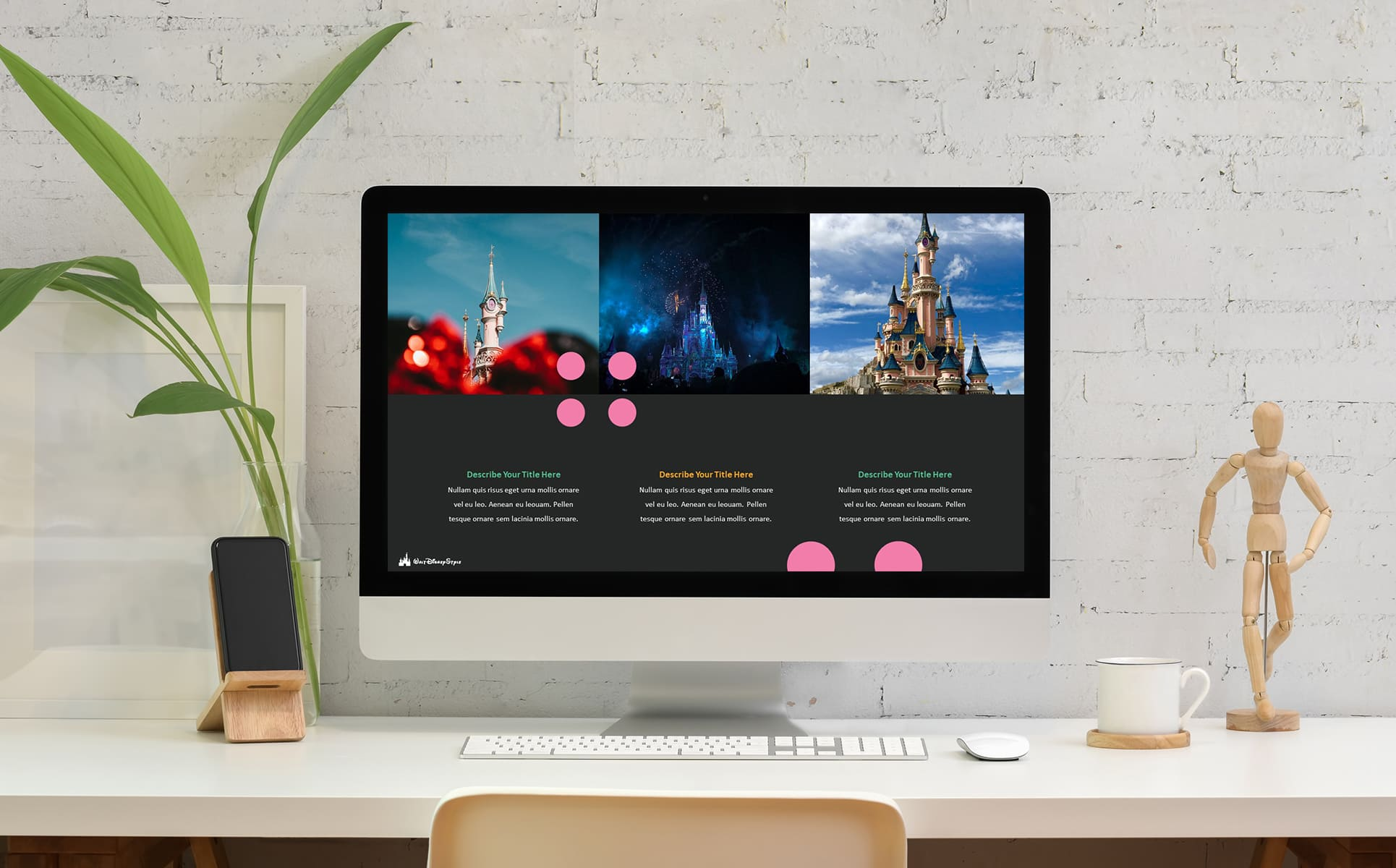 Disney Powerpoint Template. Monitor from your computer in a stylish setting.