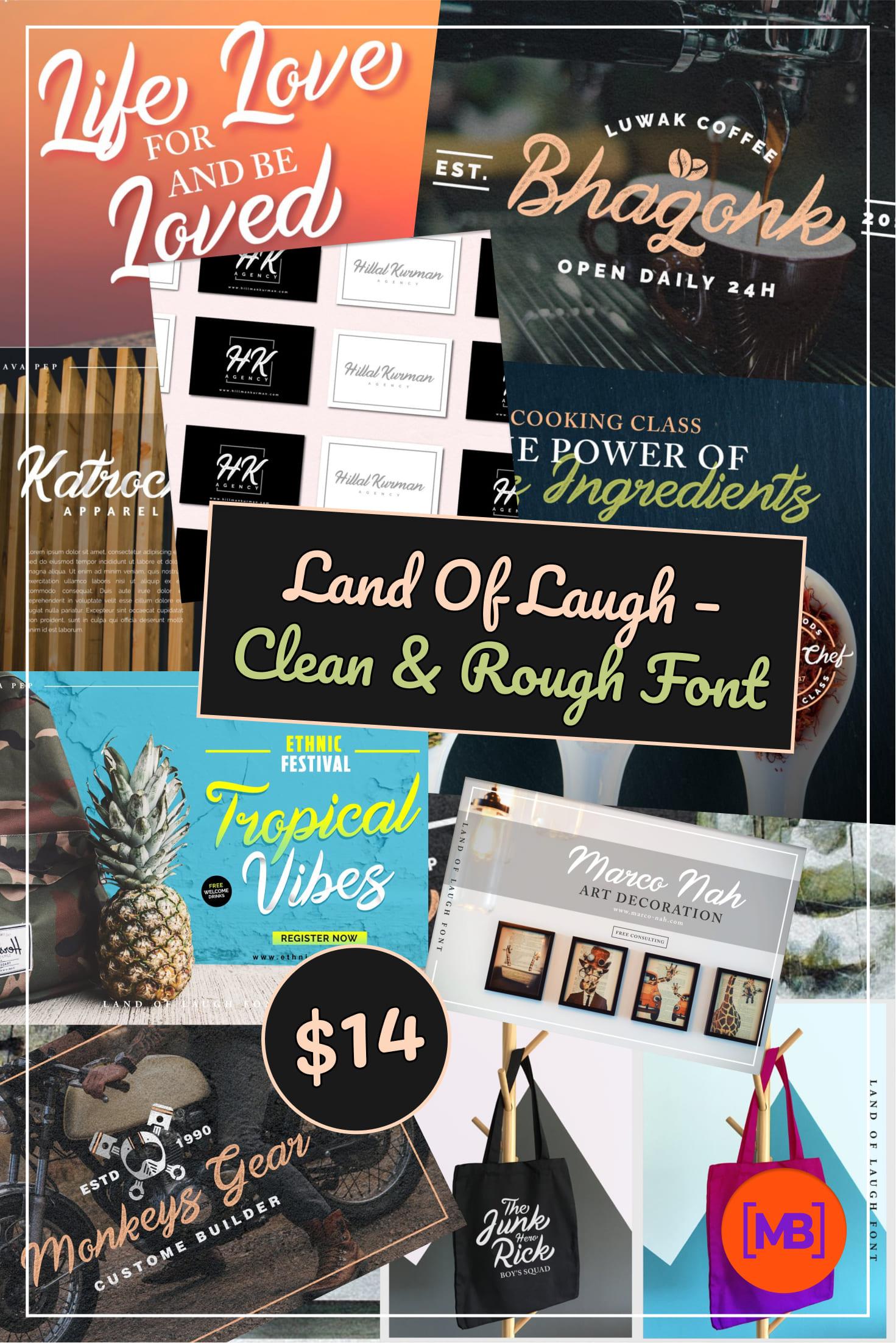 Pinterest Image: Land Of Laugh - Clean & Rough Font.