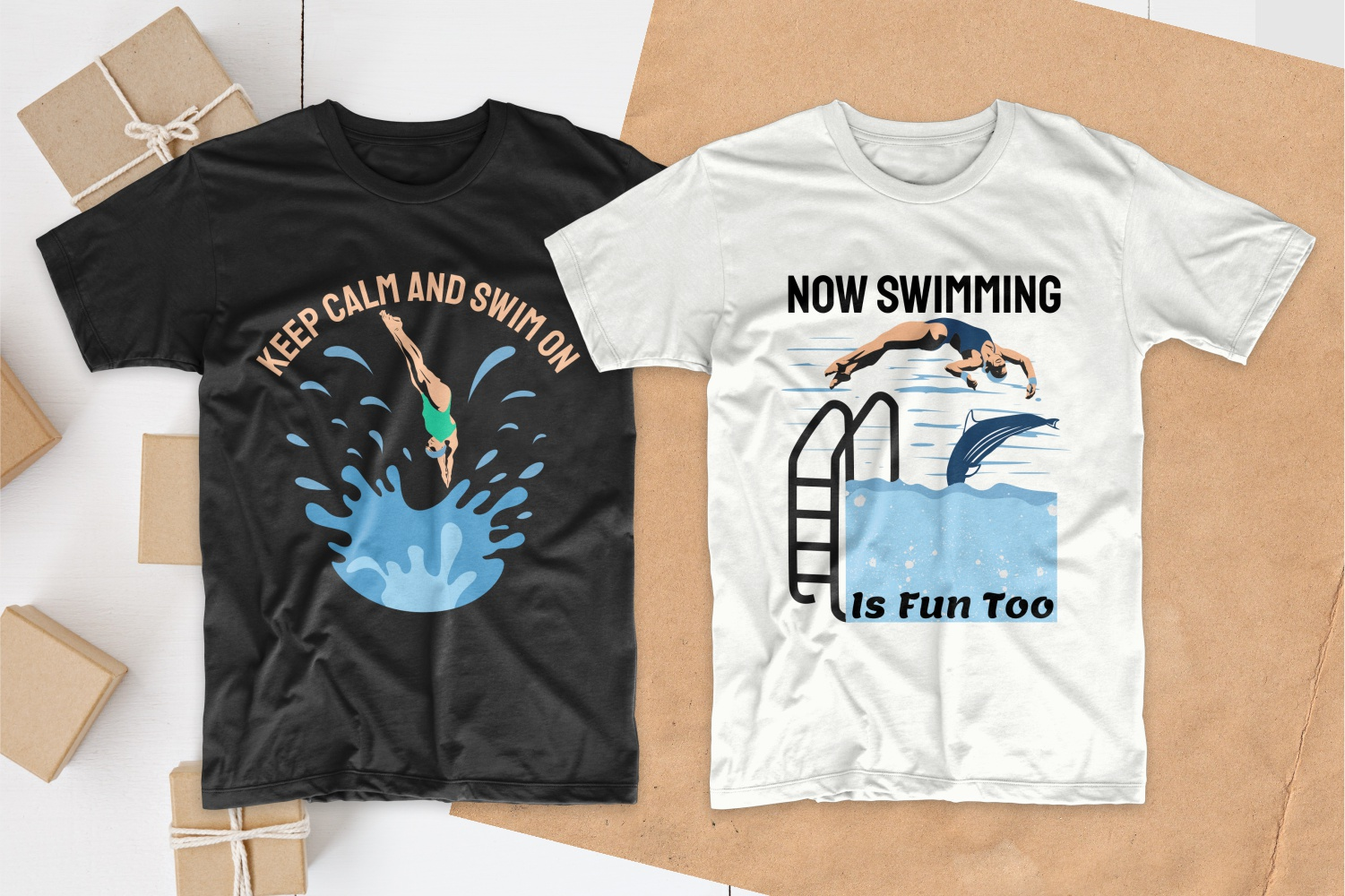 50 Swimming T-shirt Designs Bundle - 6