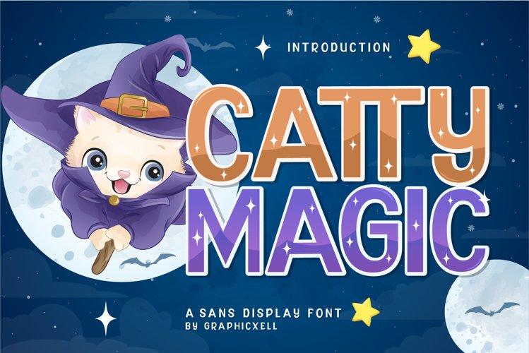 Catty Magic Font Image.