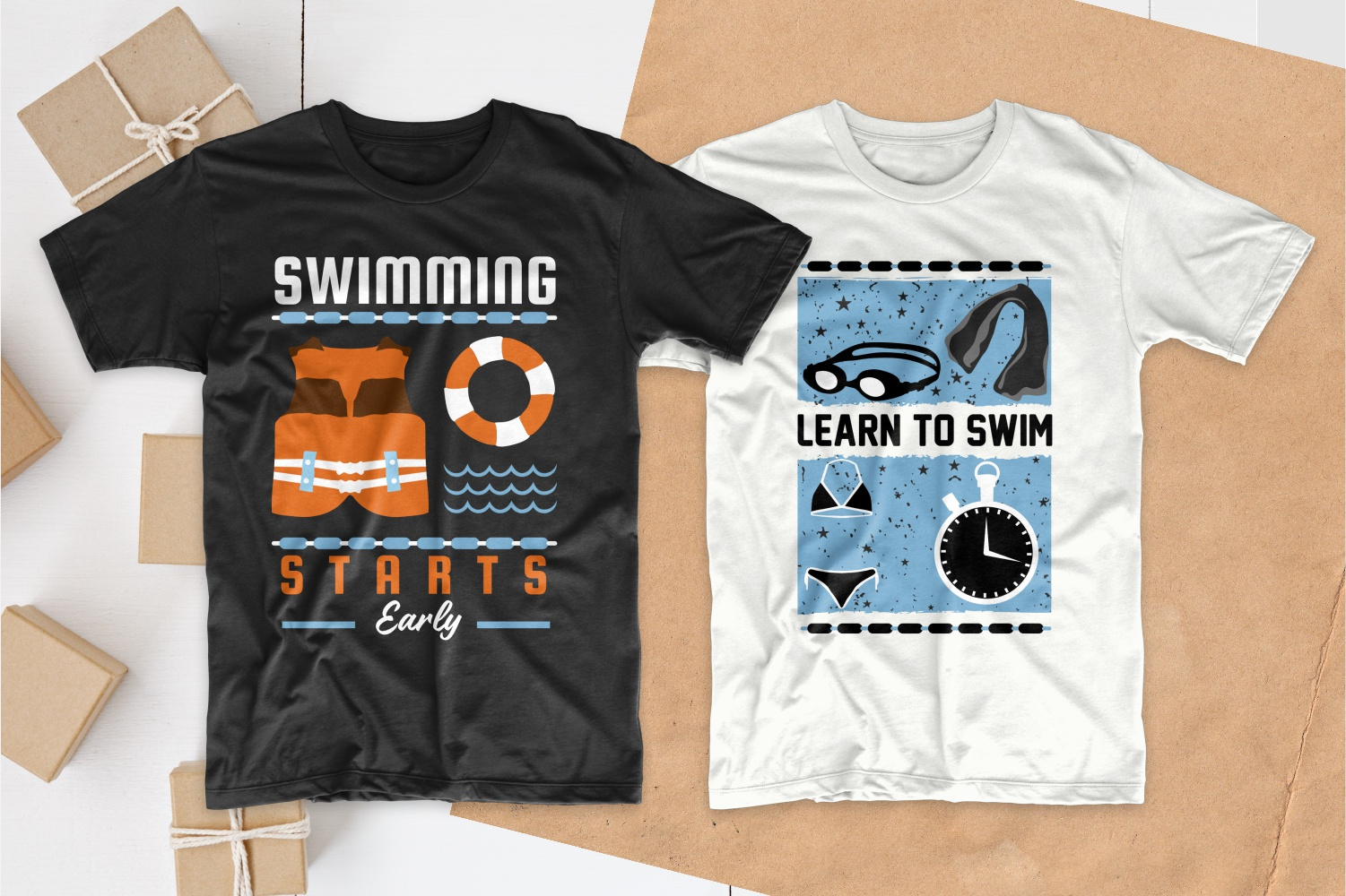 50 Swimming T-shirt Designs Bundle - 7