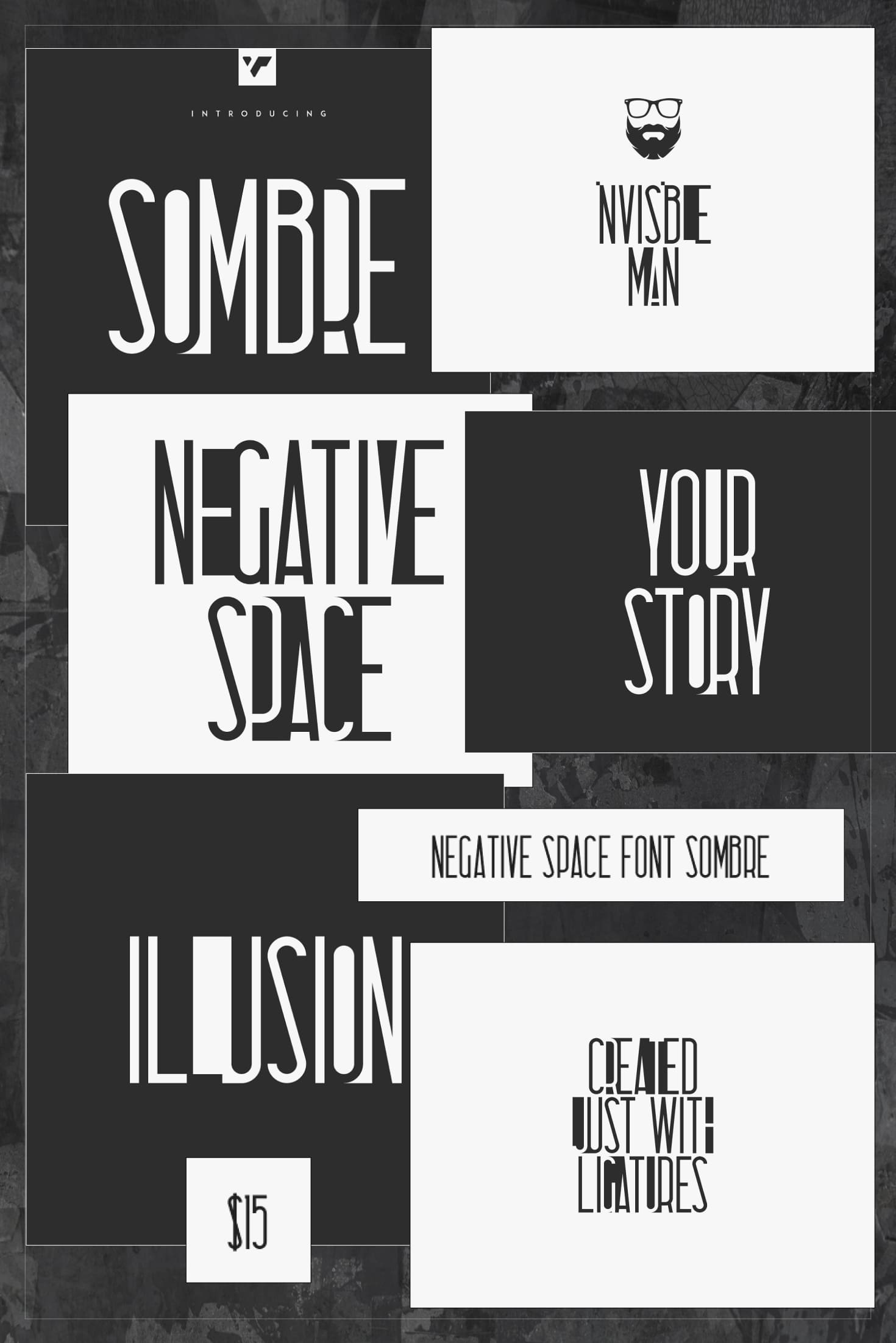Pinterest Image: Negative Space Font Sombre.