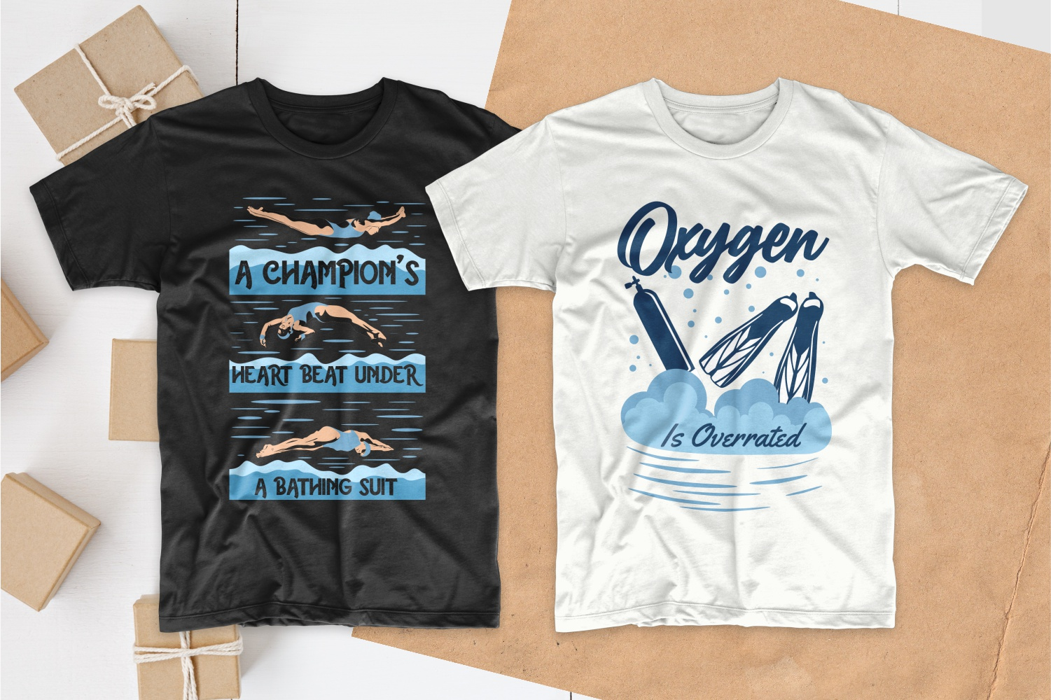 50 Swimming T-shirt Designs Bundle - 8