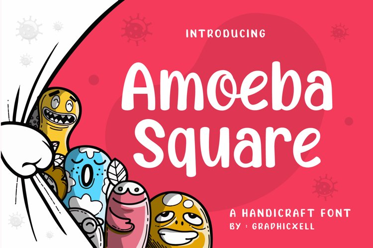 Amoeba Square Font Image.