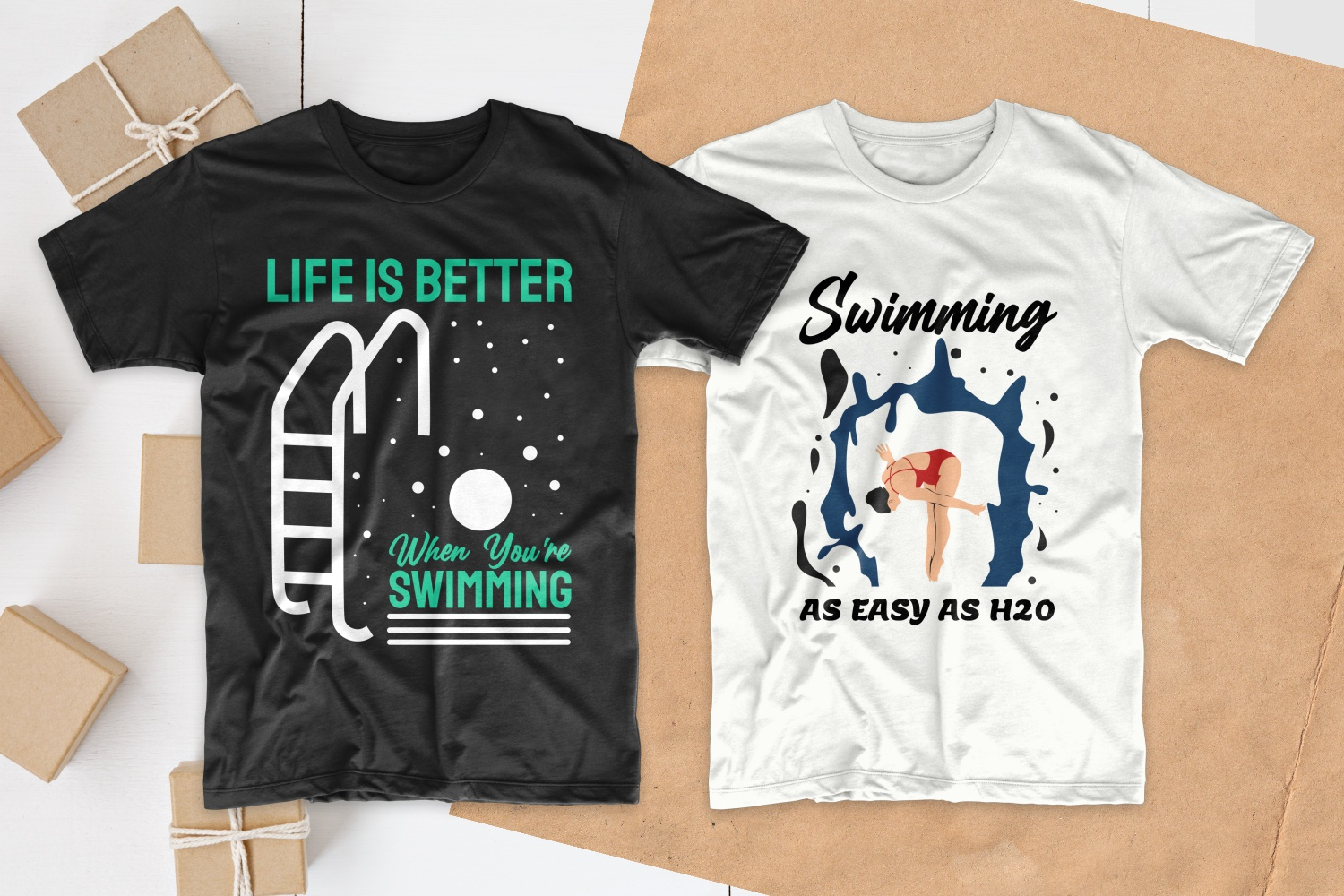 50 Swimming T-shirt Designs Bundle - 9