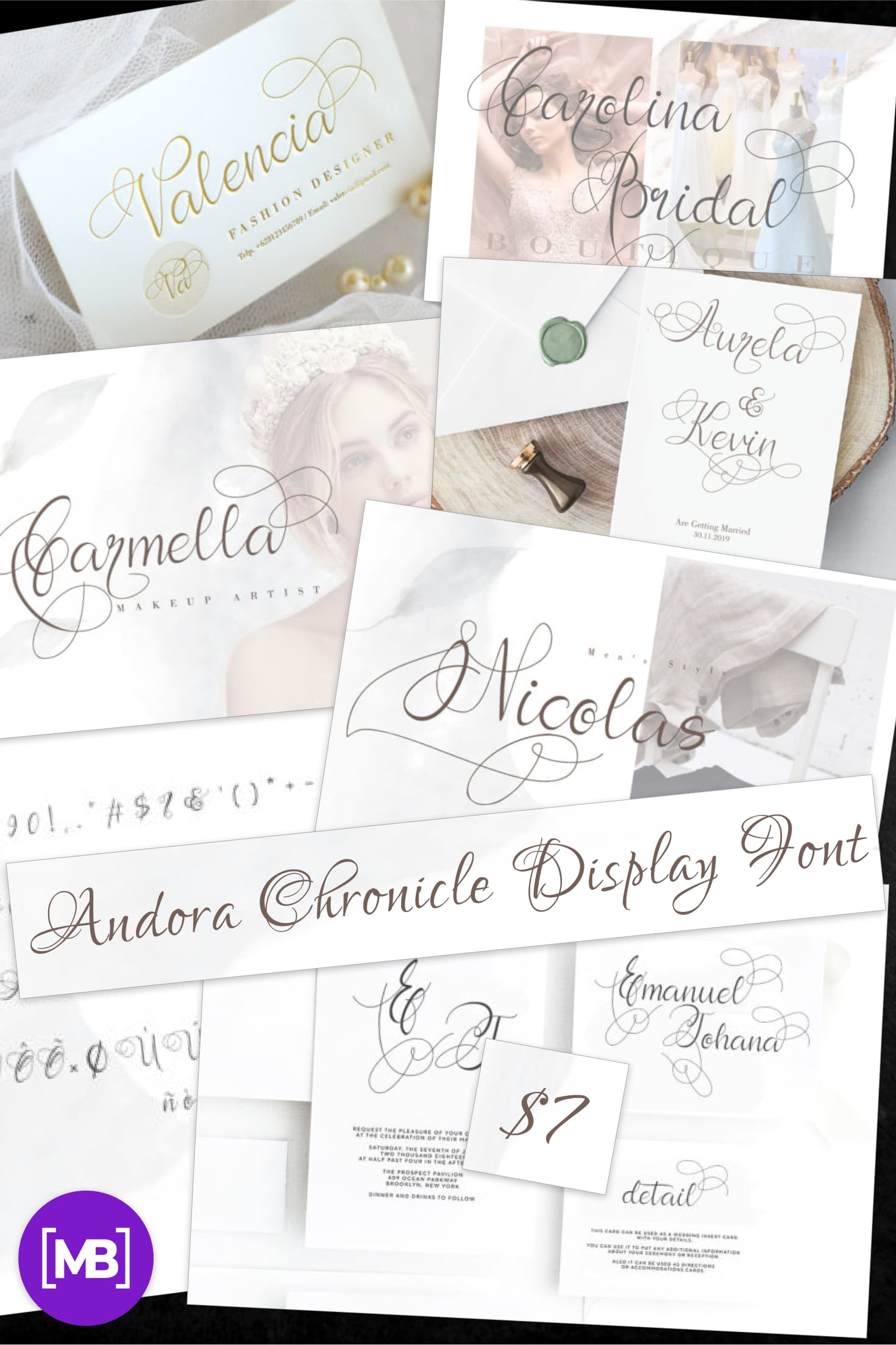 Pinterest Image: Best Chronicle Display Font 2020 | Andora Chronicle Display Font.