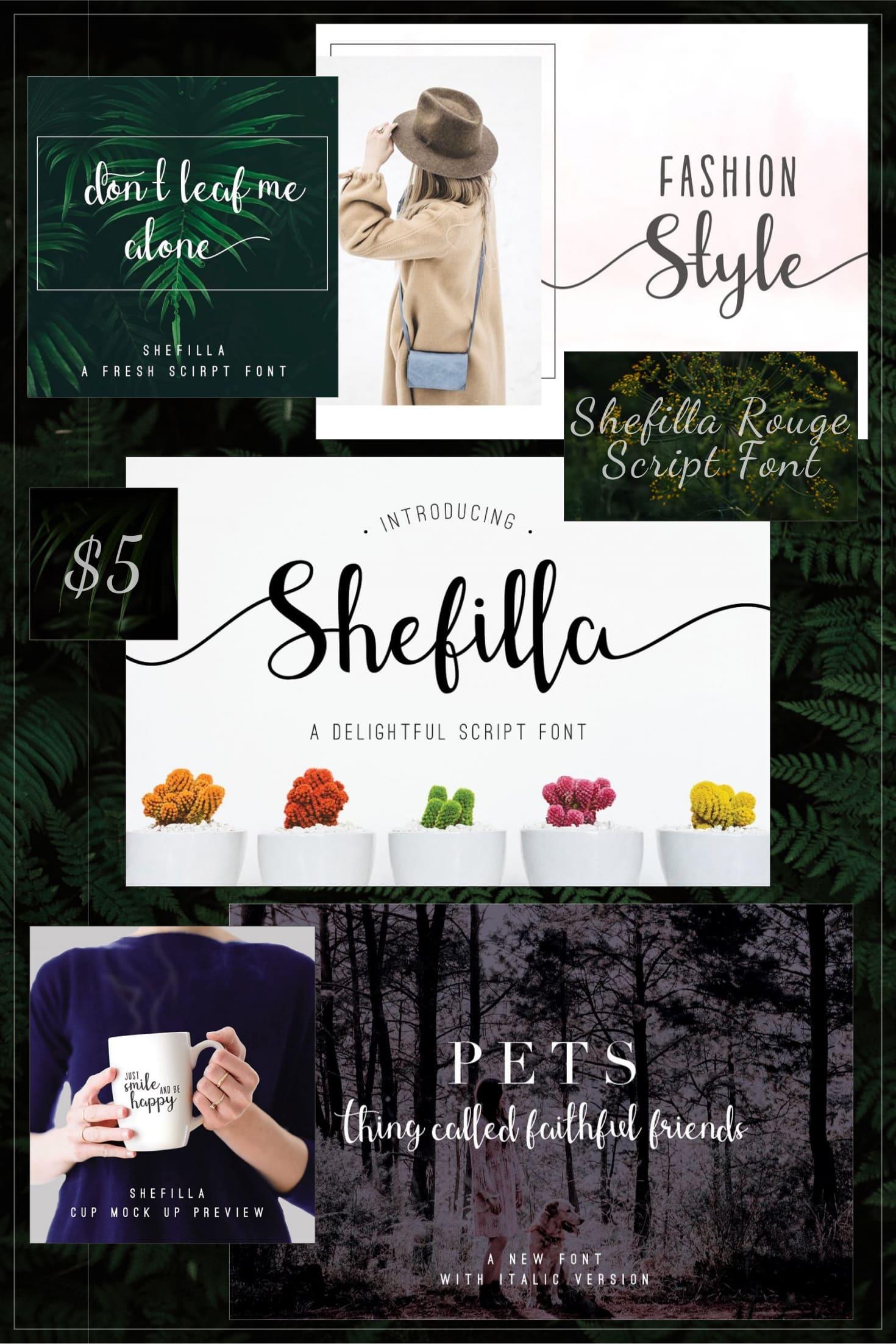 Pinterest Image: Shefilla Rouge Script Font.