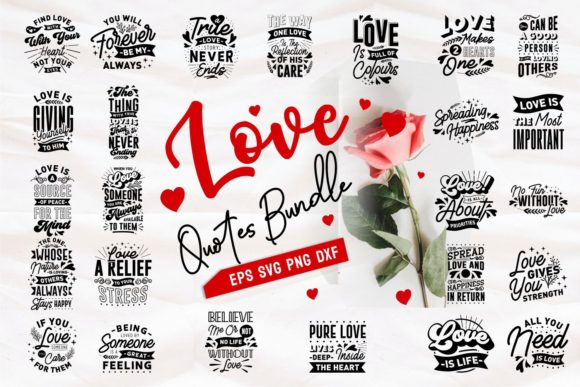 Romantic and Love Quotes SVG Bundle - Love and Romantic Quotes SVG Bundle Graphics 7433873 1 1 580x387