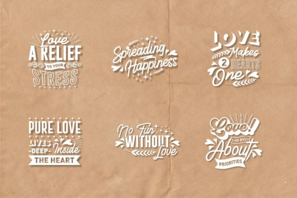 Romantic and Love Quotes SVG Bundle - Love and Romantic Quotes SVG Bundle Graphics 7433873 13 580x387