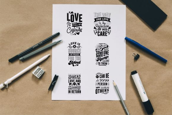 Romantic and Love Quotes SVG Bundle - Love and Romantic Quotes SVG Bundle Graphics 7433873 3 580x387