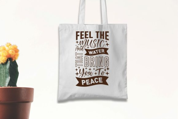 Meditation Quotes on the white eco-bag.