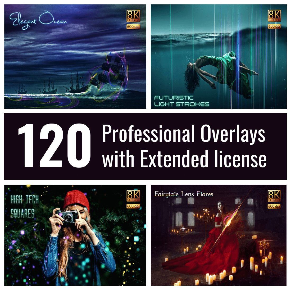 120 Professional Overlays