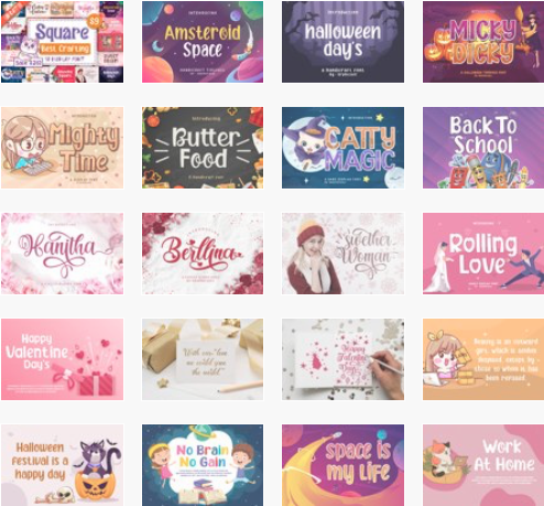 Square Font Bundle Deal: 18 Amazing Fonts. Cover image.