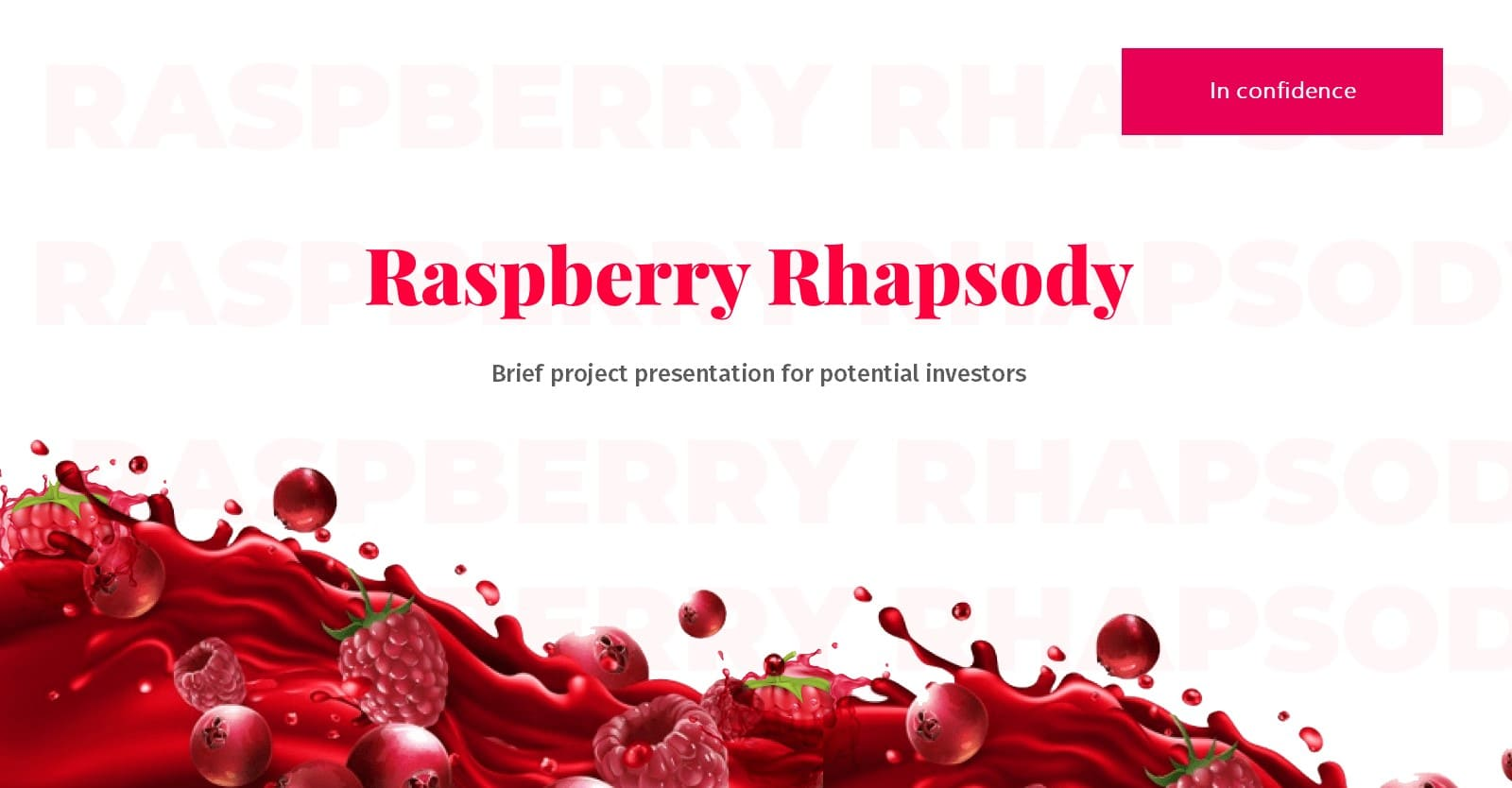 Feminine Presentation: Raspberry Powerpoint, Google Slides, Figma & Keynote Templates - Slide1