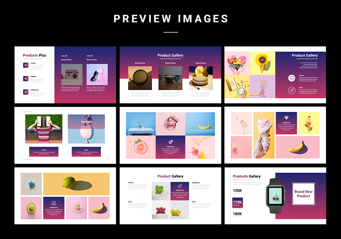 With this template, you can create a modern, trendy and stylish presentation.