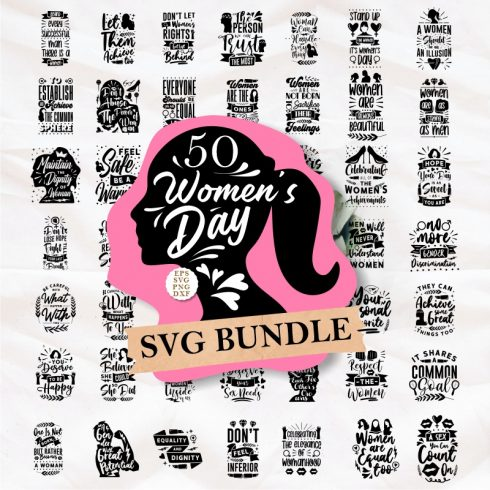 Emblem Creator Bundle -  All in One File - Womens day Cover 1 490x490