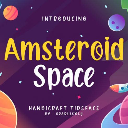 Amsteroid Space Font Example.