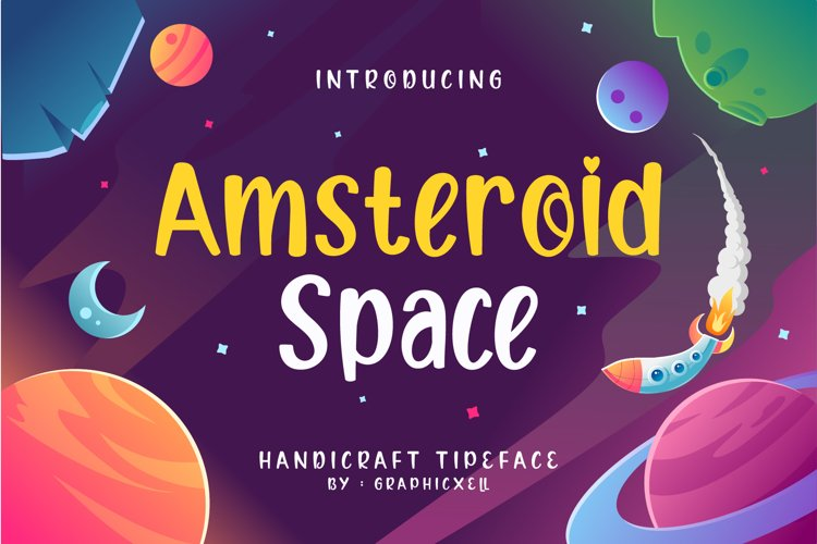 Amsteroid Space Font Image.