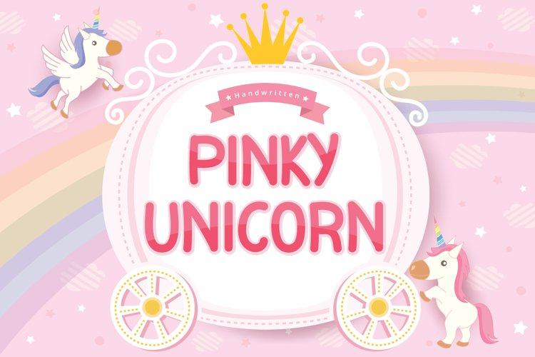 Pinky Unicorn Font Image.
