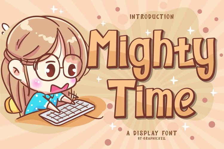 Mighty Time Font Image.