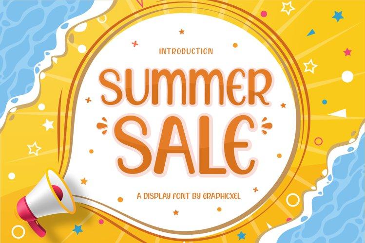 Summer Sale Font Image.