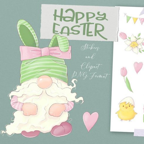 Easter Clipart: Easter Gnome Clipart