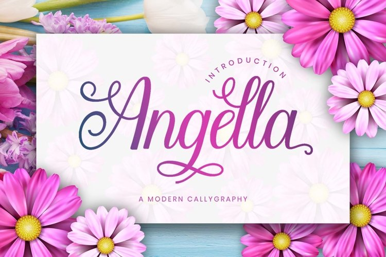 Angella Font Image.