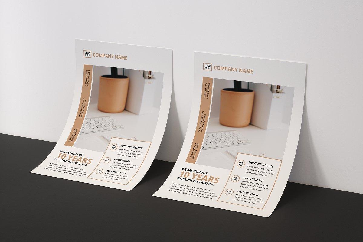 Minimal Flyer Design Bundle, Word Flyer Postcard - ok