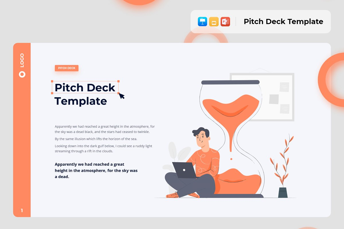 Pitch Deck & Presentation Animated Smooth Template.