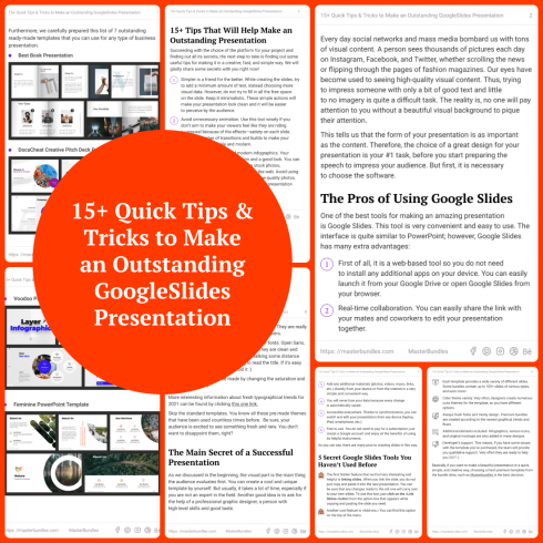 WowTron PDF Merger - $5 only! - 1 15 Quick Tips   Tricks to Make an Outstanding GoogleSlides Presentation 490x490