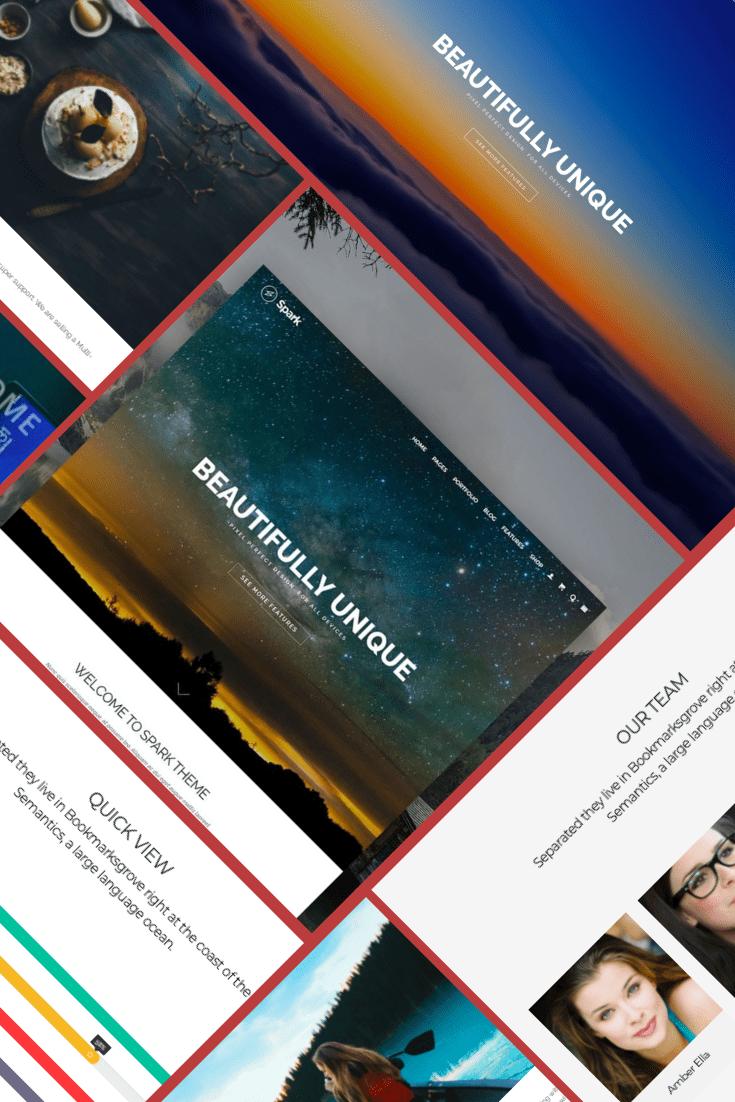 Spark WordPress Theme - $25. Collage Image.
