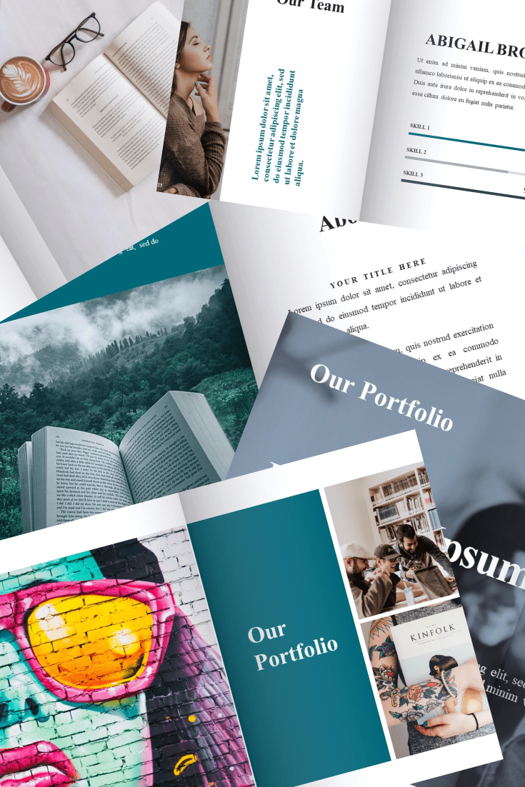 Best Book Presentation: Book Powerpoint Template and Google Slide Theme - Bonus: Keynote Template. Collage Image.