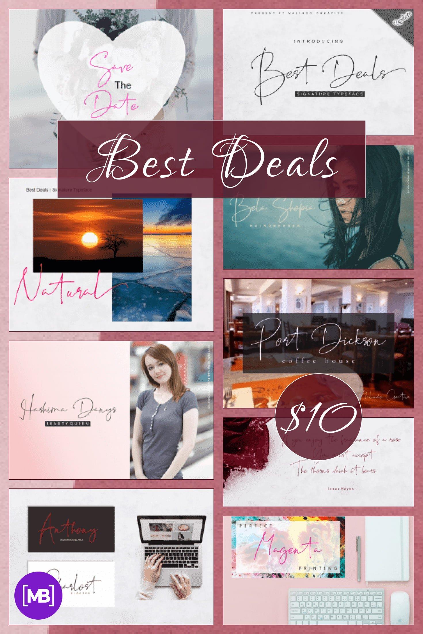 Pinterest Image: Best Deals   Signature Typeface.
