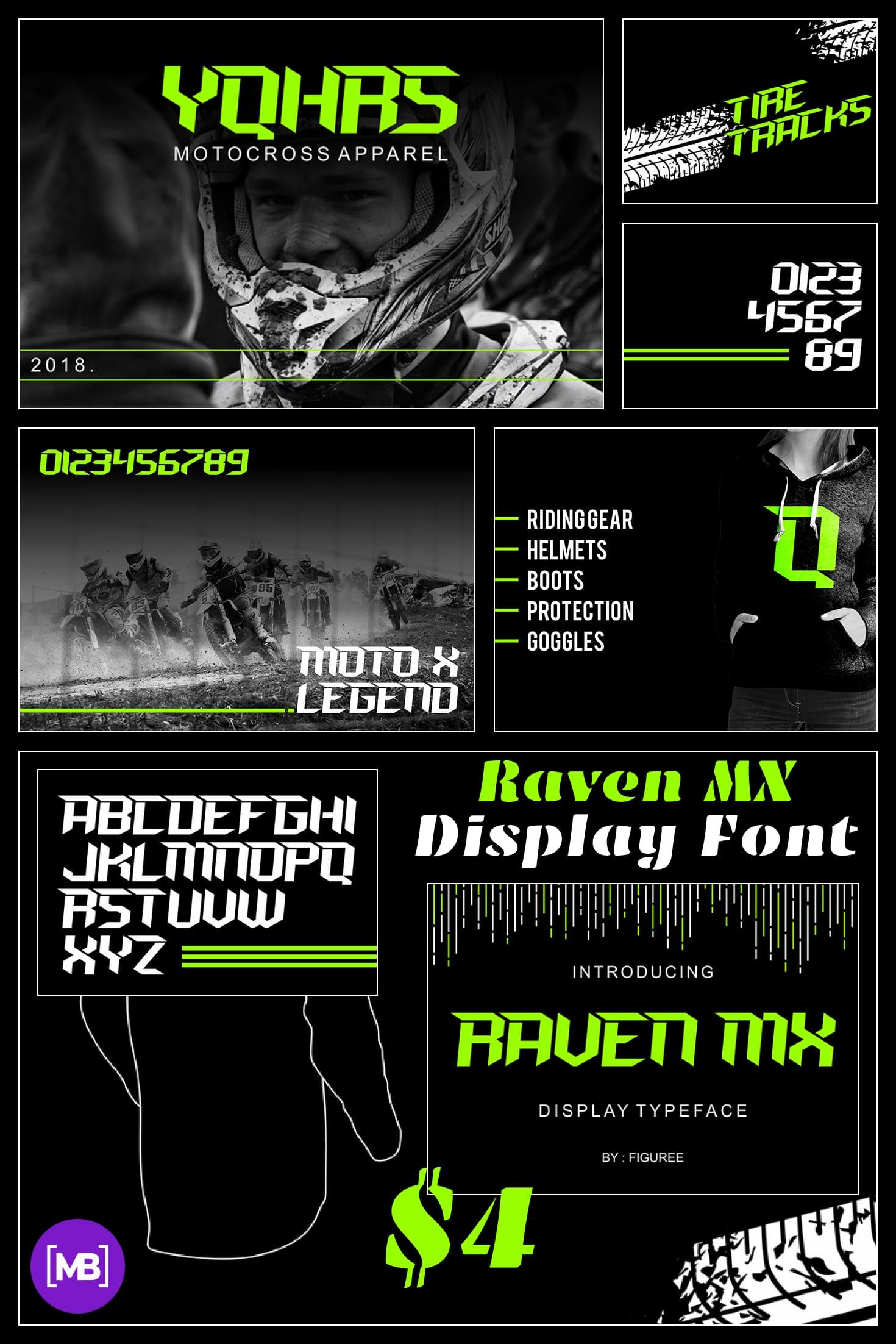 Pinterest Image: Raven MX Display Font - $4.