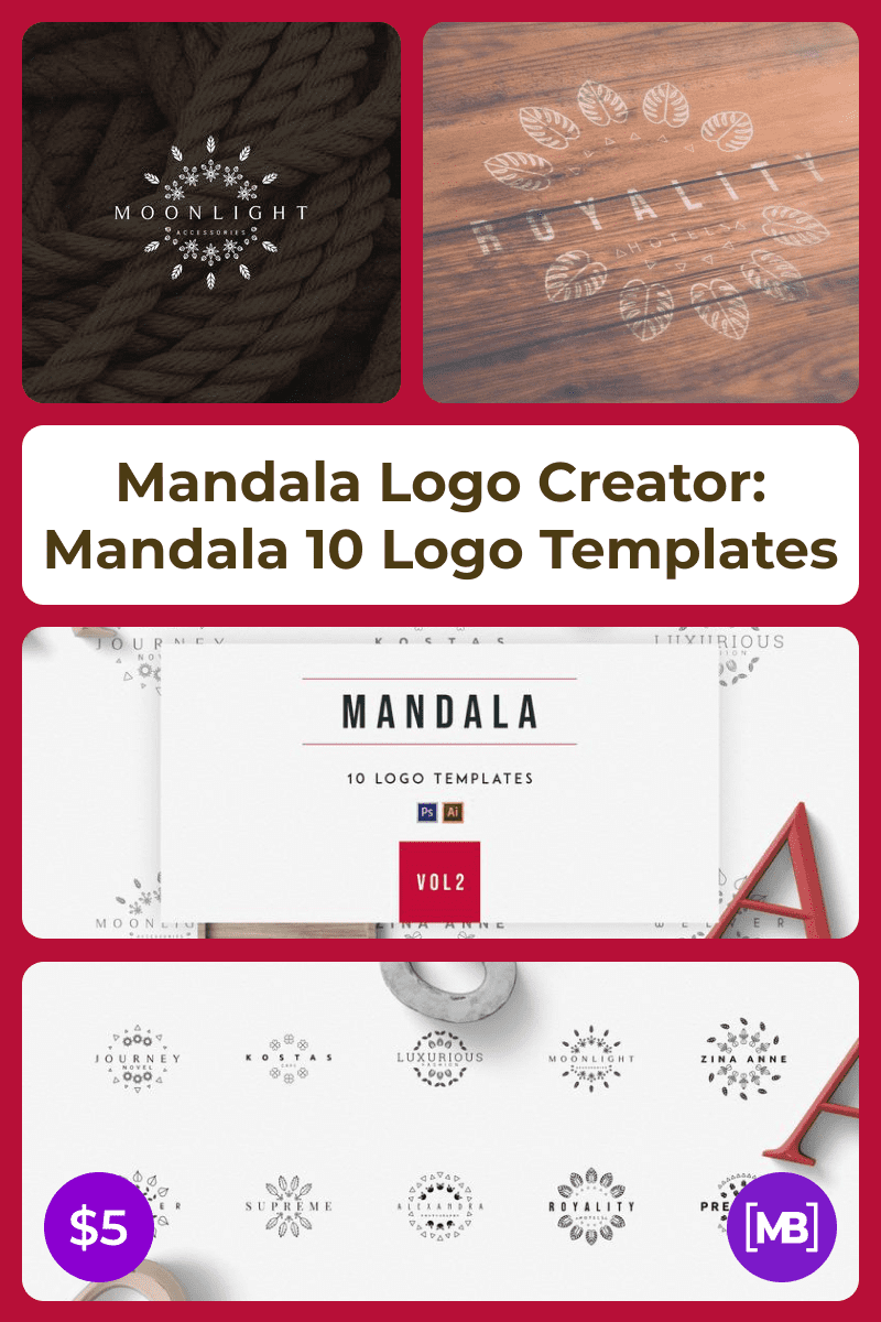 Very varied and stylish mandala designs. It can be used both for logo decoration and as a sketch for a tattoo.