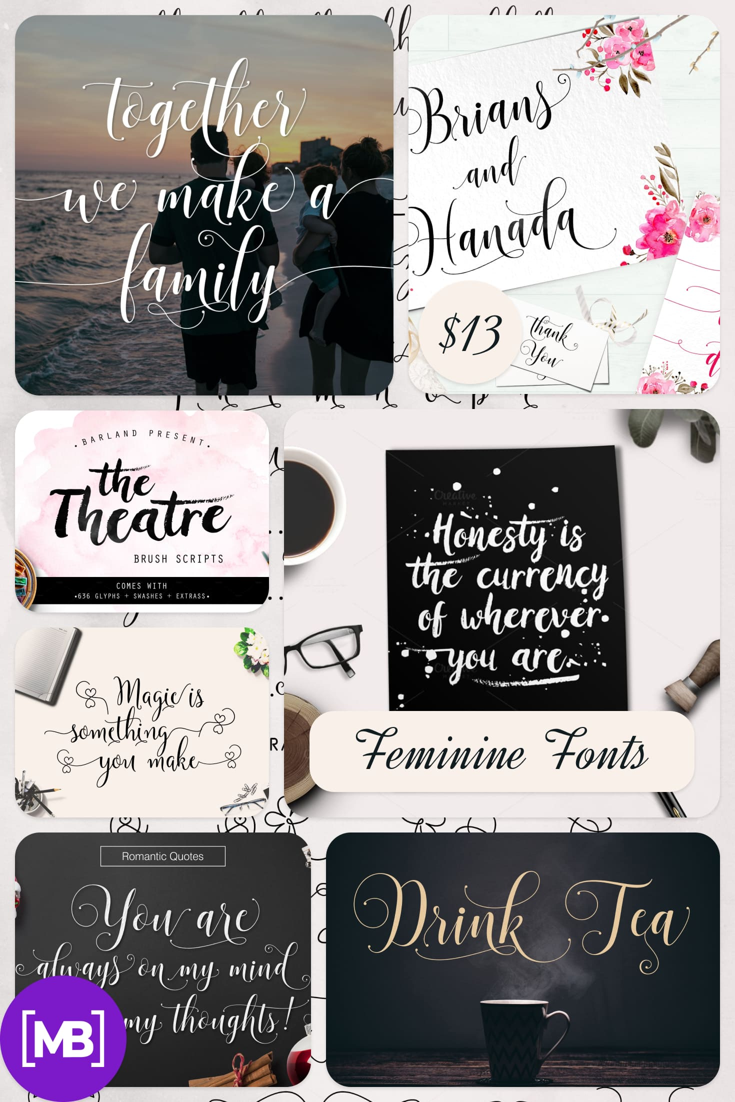 Barland | Font Bundles Collection. Collage Image.