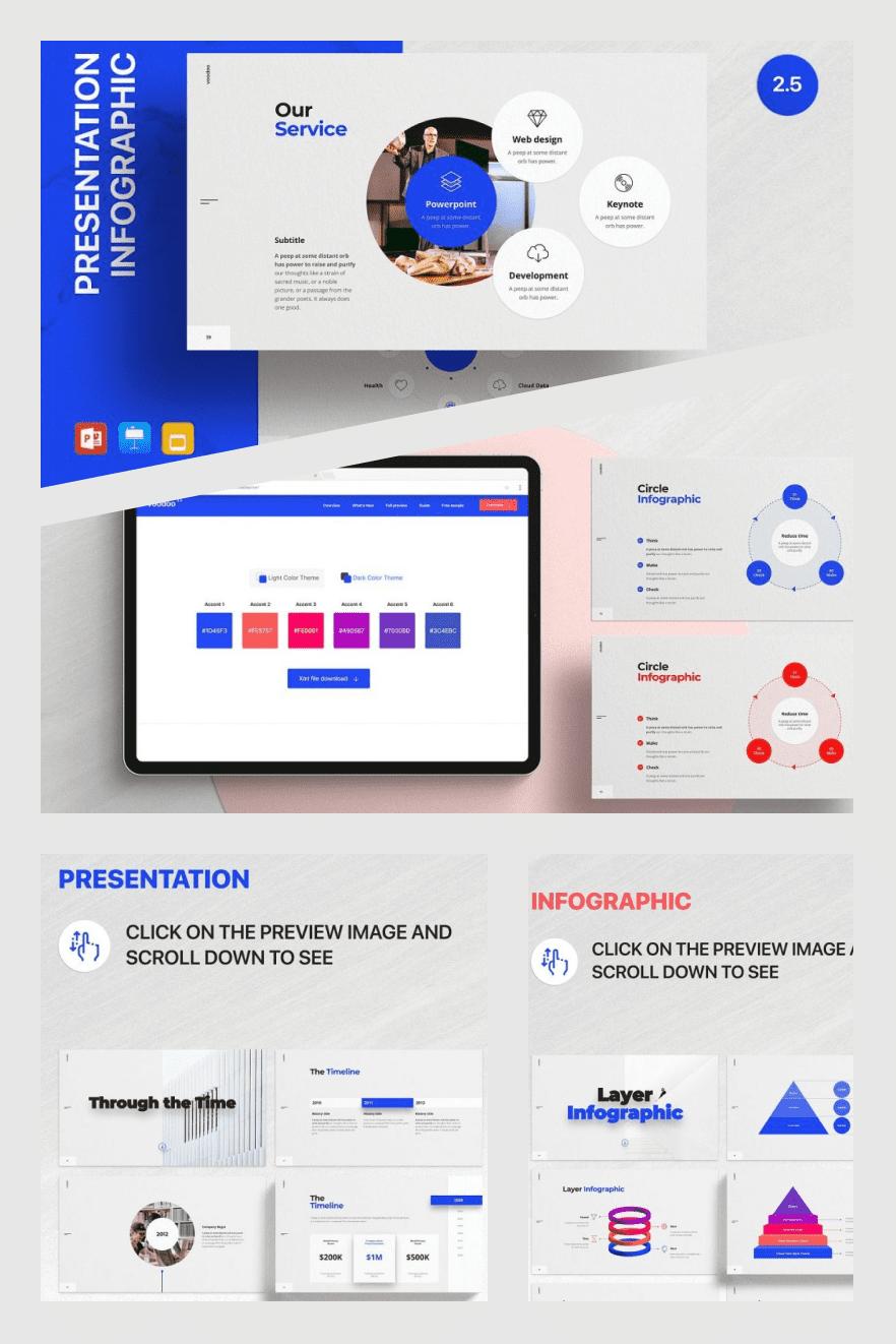 Voodoo Presentation v2.5 - Templates. Collage Image.